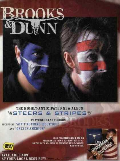 "Brooks & Dunn Photo ""Steers & Stripes"" Album (2001)"