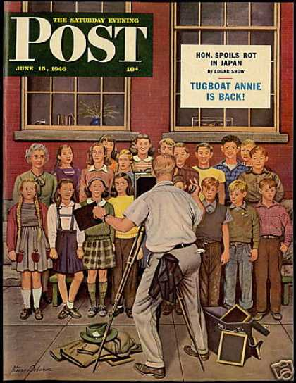 Post Mag Cover Connecticut School Dohanos Art (1946)