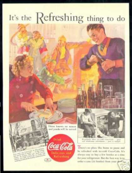 Coca Cola Winter Party Vintage Coke (1937)