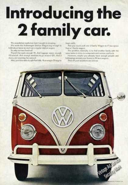 "Vw Volkswagen Station Wagon ""2 Family Car"" (1966)"