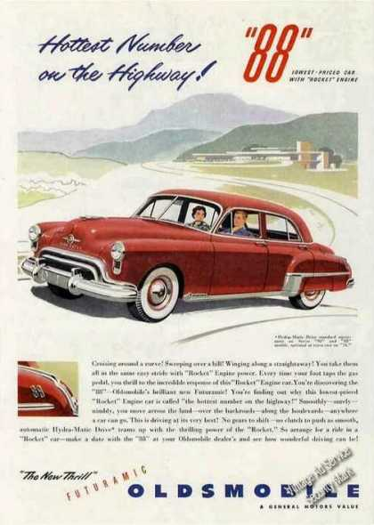 "Oldsmobile 88 ""Hottest Number On the Highway"" (1949)"