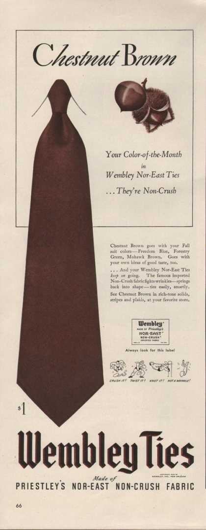 Wembley Chestnut Brown Mens Tie (1942)