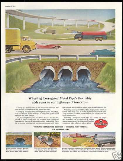 Wheeling Steel Highway Corrugated Metal Pipe (1957)