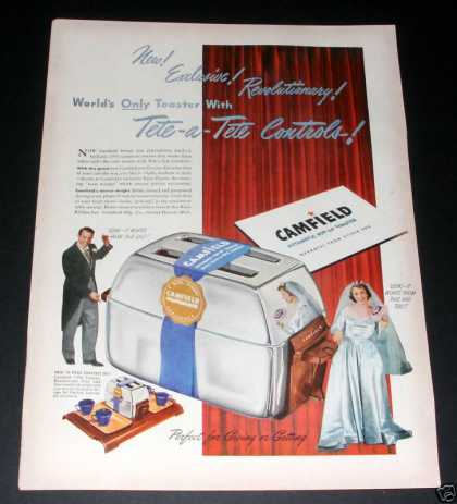 Camfield Automatic Toaster Ad, Ex (1949)