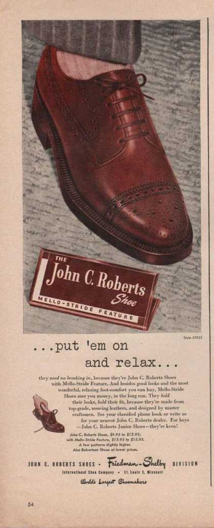 John Roberts Put Em On & Relax Mens Shoe A (1949)