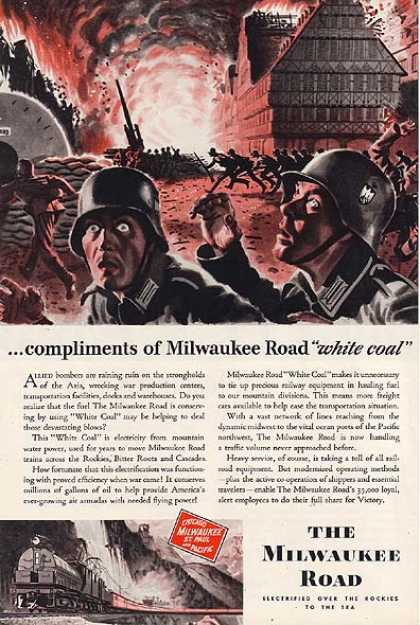 Milwaukee Road's Chicago, Milwaukee, St. paul and Pacific Railroad (1943)