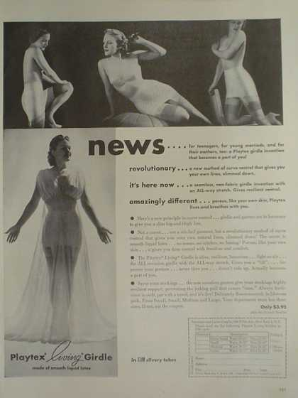 Playtex Living Girdle. Revolutionary Amazingly different (1947)
