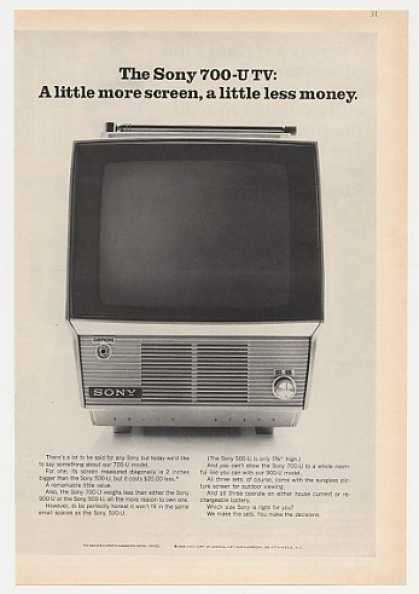 Sony 700-U TV Portable Television (1968)