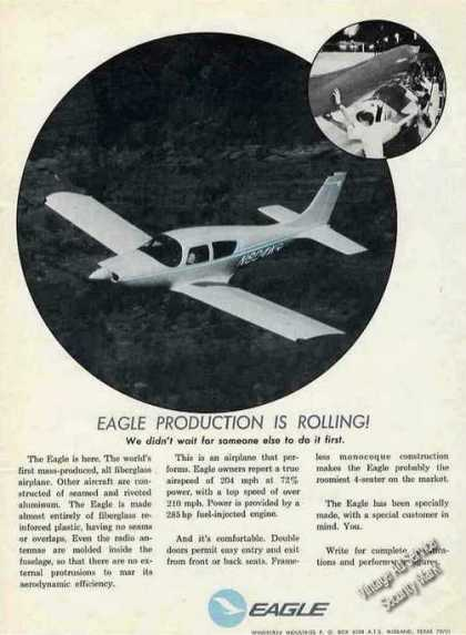 """Eagle Production Is Rolling"" Airplane (1971)"