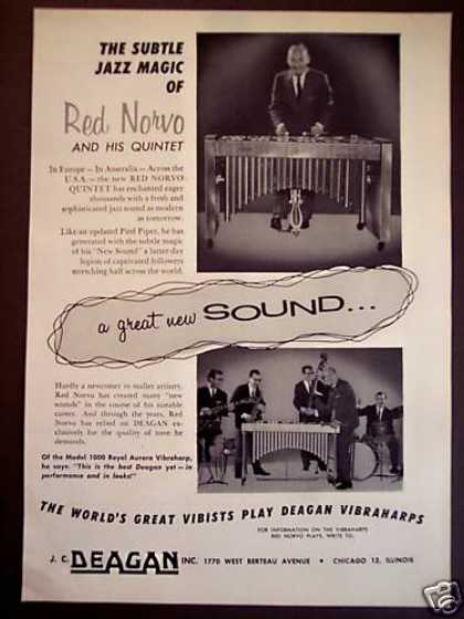 Red Norvo Plays Deagan Vibes Photo (1960)