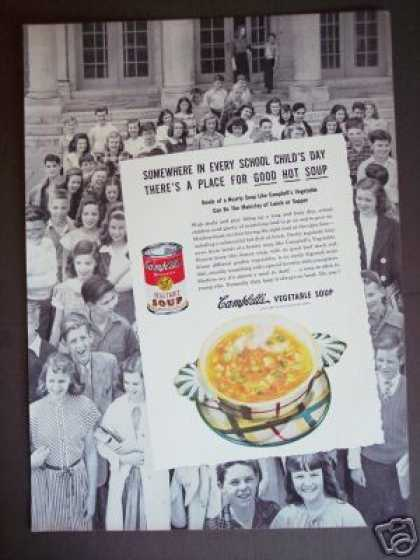 School Class Photo Campbells Soup Original (1947)