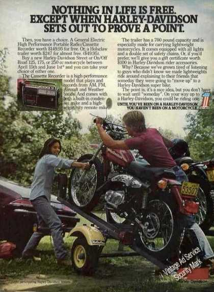 Harley-davidson Motorcycles On Trailer (1977)