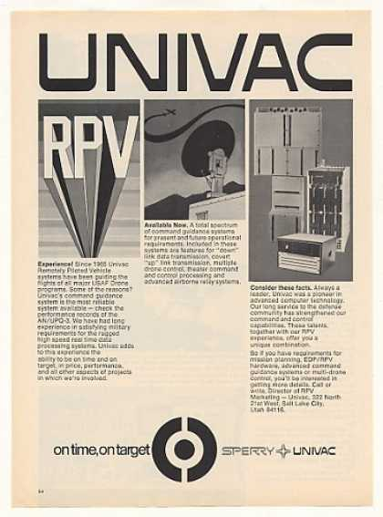 Sperry Univac Computer RPV Drone Systems (1973)