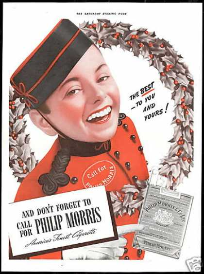 Bell Boy Philip Morris Cigarette (1940)