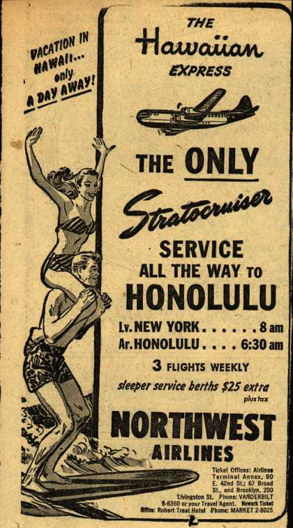 Northwest Airline's Honolulu – The Hawaiian Express (1950)