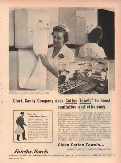 Fairfax Towels – Clark Bar Candy by D.L. Clark Company (1951)