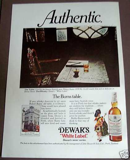 Dewar's White Label Whisky (1975)