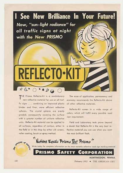'52 Prismo Reflecto-Kit Traffic Sign Character (1952)