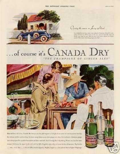Canada Dry Ginger Ale Color (1935)