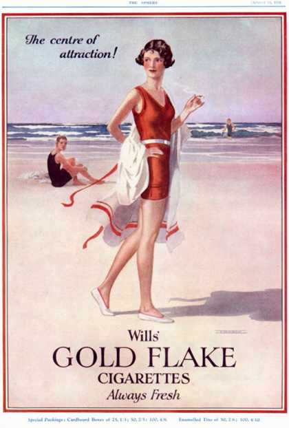 Will's Gold Flake, Wills Smoking Cigarettes, UK (1920)