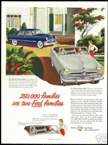 Ford 4Dr Sedan & Convertible Vintage Car (1950)