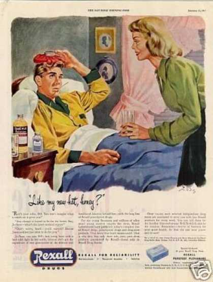 "Rexall Drugs Ad ""Like My New Hat... (1947)"