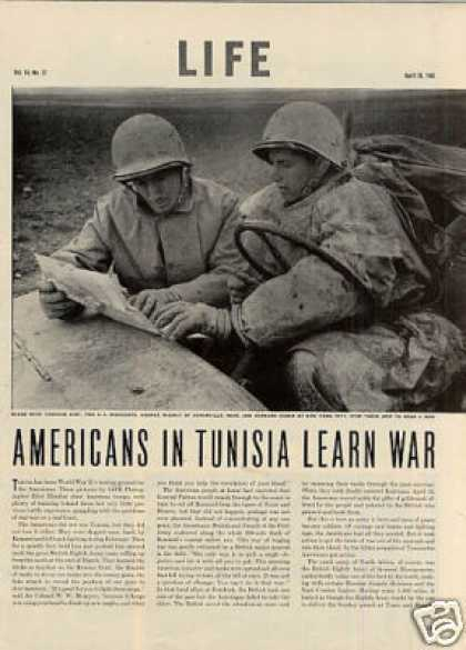 """Americans In Tunisia Learn War"" Article (1943)"