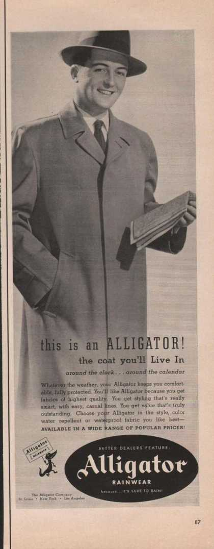 Alligator Mens Rainwear Coat (1951)
