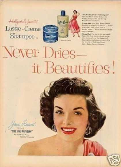 Lustre-creme Ad Jane Russell (1954)