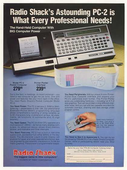 Radio Shack TRS-80 PC-2 Pocket Computer (1982)