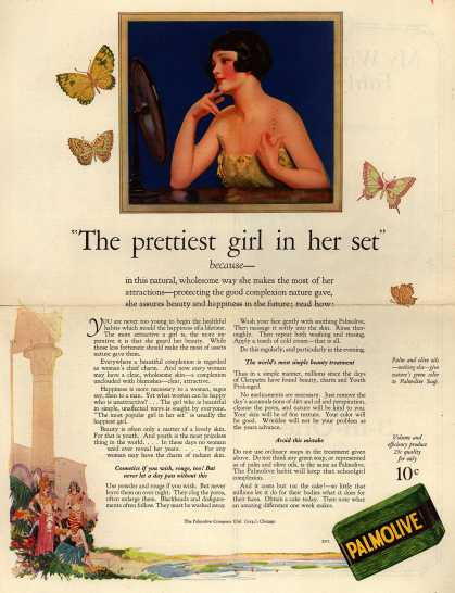 "Palmolive Company's Palmolive Soap – ""The prettiest girl in her set"" (1925)"