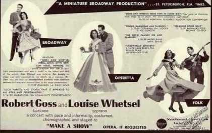Robert Goss & Louise Whetsel Operetta/folk (1960)