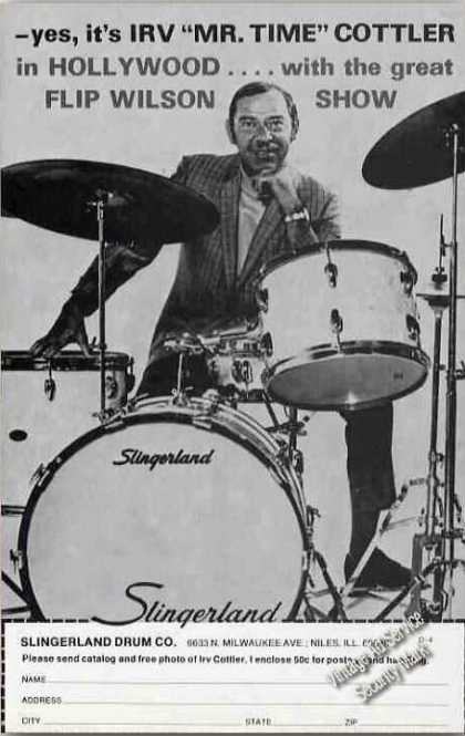 "Irv ""Mr. Time"" Cottler Photo Slingerland Drums (1974)"