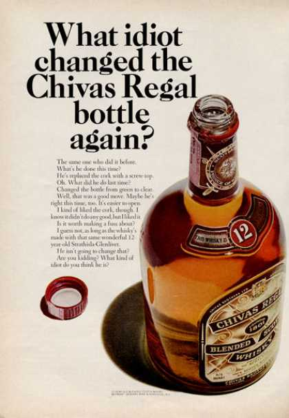 Chivas Regal Whisky Bottle (1966)