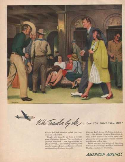 Who Travels By Air American Airlines (1946)