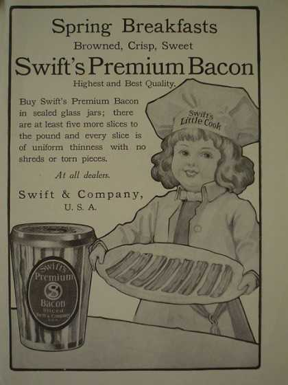 Swift Premium Bacon Swift and Company (1910)