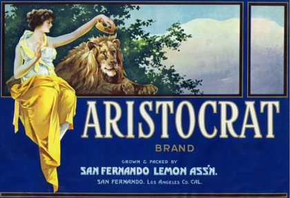 San Fernando, California, Aristocrat Brand Citrus Label