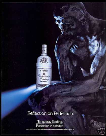 The Thinker Sculpture Tanqueray Sterling Vodka (1990)