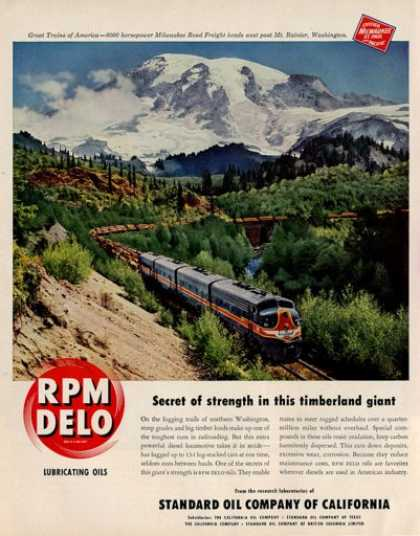Rpm Delo Nmilwaukee Train Mt Rainer Washington (1950)
