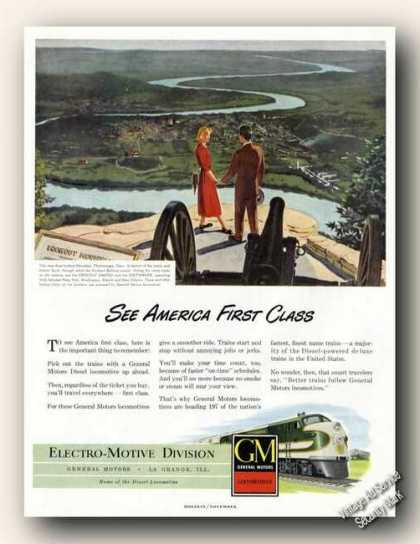 View From Lookout Mountain Tn Gm Locomotives (1948)