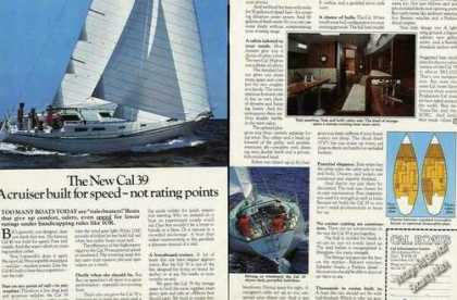 "Cal 39 Photos ""Cruiser Built for Speed"" Boat (1978)"