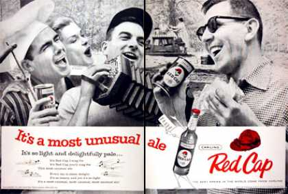 Carling Red Cap Ale – It's a most unusual ale (1957)