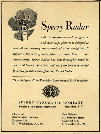 Sperry Gyroscope Company's Sperry Radar – Sperry Radar (1948)