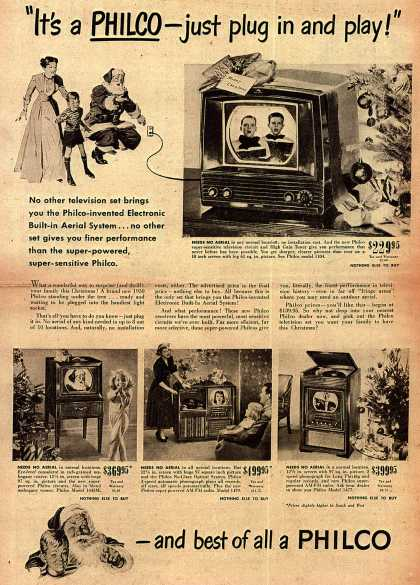 "Philco's Television – ""It's a Philco-just plug in and play!"" (1949)"