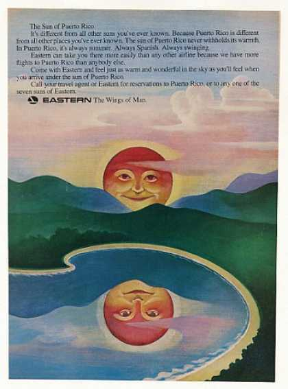 Eastern Airlines Sun of Puerto Rico art (1969)