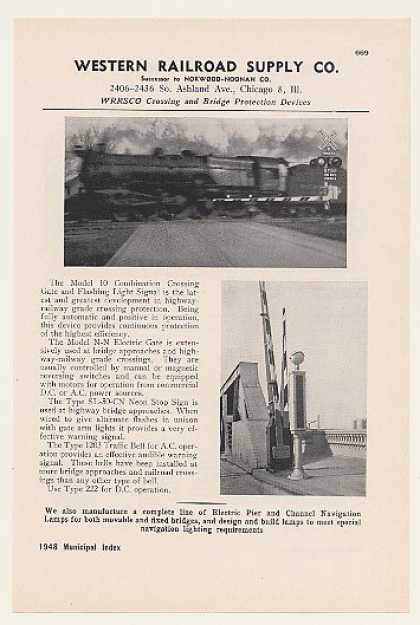 Western Railroad Supply Crossing Gate Signal (1948)