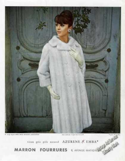 Azurene Emba Mink French Language Fashion (1965)