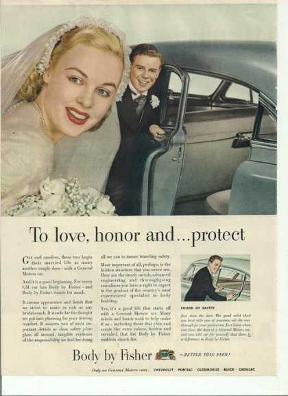 Love Honor Protec Body By Fisher (1950)