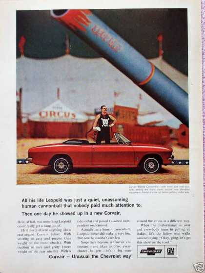 Chevrolet Corvair Leopold Circus Human Cannonball (1966)