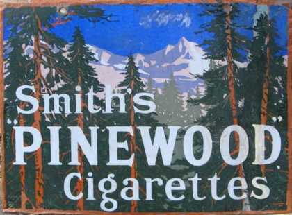 Smith's Pinewood Cigarettes Sign